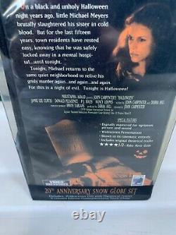 Vintage Neca Halloween Michael Myers Snow Globe Set 1978-1998 20th Anniversary