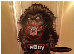 Vtg 1986 Critters Movie Video Store Release VHS Promo Counter Display Standee