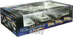 WELLY Back the Future 1 2 3 Diecast DeLorean Car Time 124 Trilogy Triple Pack