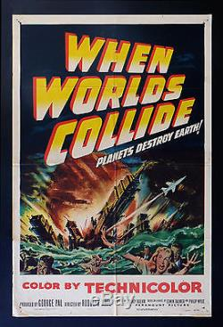 WHEN WORLDS COLLIDE CineMasterpieces ORIGINAL MOVIE POSTER SCI FI SPACE 1951