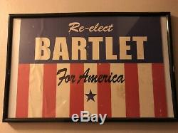 West Wing Film Prop From Set Re-Elect Bartlett Sign 20 Hours In America pt. 1