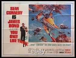 You Only Live Twice Sean Connery James Bond 1967 Subway Poster